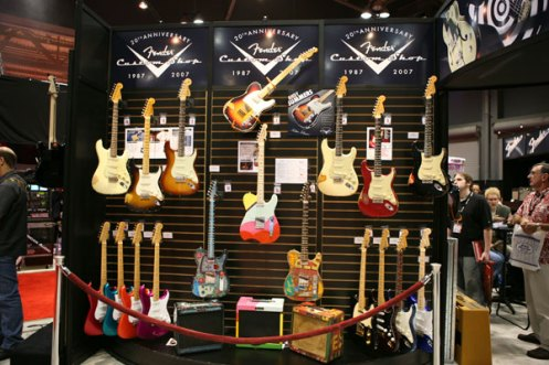 Fender 2007 NAMM Custom Shop Booth