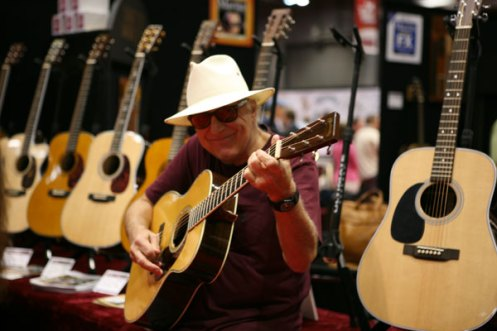 Jerry Jeff Walker at the Martin Guitar Booth